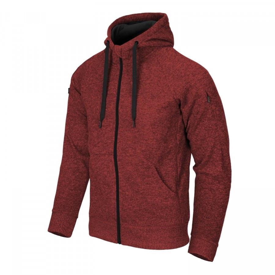 Куртка COVERT TACTICAL HOODIE - Red/Black Melange