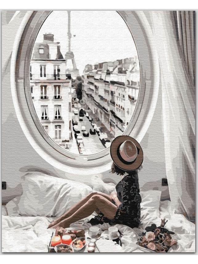 Картина по номерам Лучшее утро в Париже ТМ BrushMe  40 х 50 см GX34175