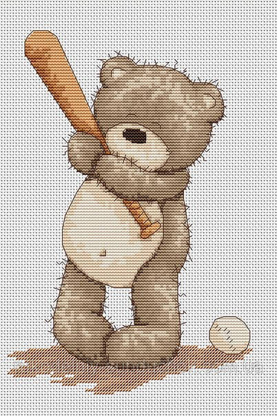 Набор для вышивки крестом Luca-S B1005 Медвежонок Бруно