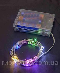 Роса на батарейках 50 LED, 5м, мульті