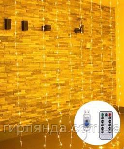 ШТОРА-РОСА 144л 1,8м*1,2м, USB/пульт, білий теплий