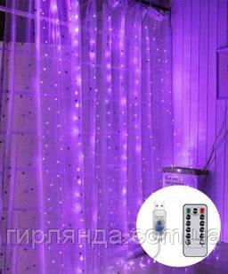 ШТОРА-РОСА 144л 1,8м*1,2м, USB/пульт, фіолетовий