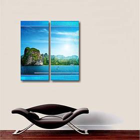 """Модульна картина на полотні """"Острів"""" 2 в1"""