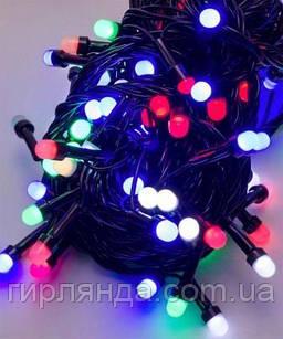Линза 500 LED, чорный провод,  мульти (50)