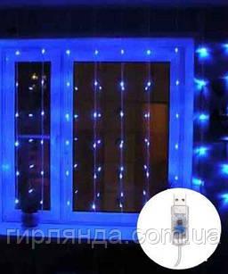 ШТОРА-РОСА 120л 3м*0,6м статична, синій