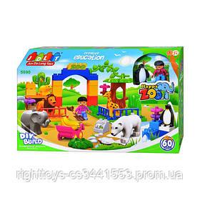 Конструктор JDLT 5090 (12шт) Зоопарк, 60 дет, в кор-ке, 44,5-29-9,5см