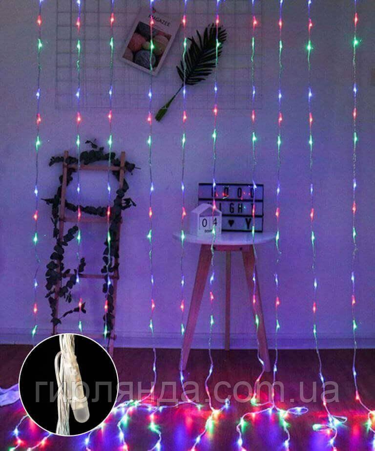 Водоспад- лінза 8мм 320 LED 3м*1,5м, мульті