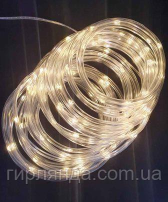 РОСА в силіконовій трубці 100 LED, 10м, білий теплий
