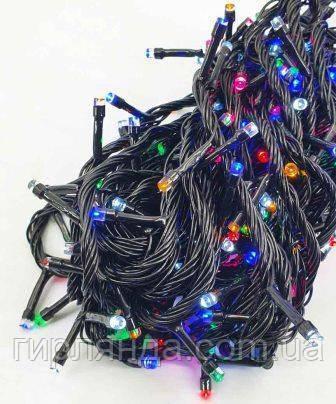 1000 LED, чорний провід, 40м  мульті