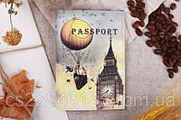 Обложка на паспорт, эко кожа.Big Ben