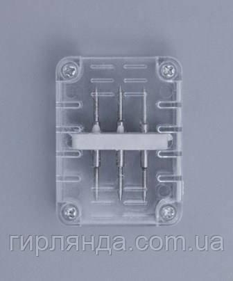 З'єднювач 3-ох контактний для дюралайта, плоский