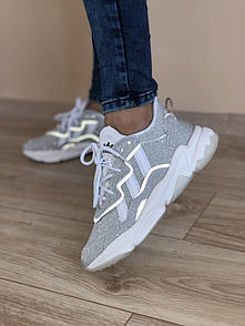 Жіночі кросівки Adidas Ozweego Adiprene pride grey