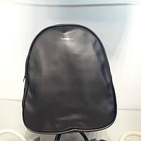 Стильный сумка рюкзак женский черный мягкий на три отдела эко кожа
