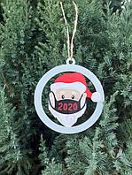 Деревянная игрушка снежинка на елку игрушка елочная коронавирус coronavirus подарок на новый год