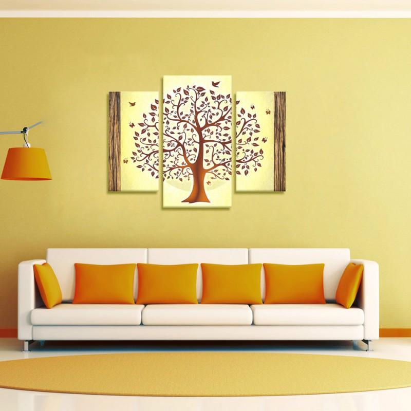 "Модульна картина 3 в 1 ""Дерево"" полотно"