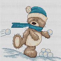 Набор для вышивки крестом Luca-S B1003 Медвежонок Бруно