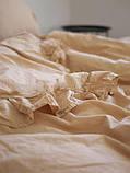 Комплект постельного белья из вареного хлопка евро размер Limasso Akdeniz bej exclusive, фото 3