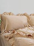 Комплект постельного белья из вареного хлопка евро размер Limasso Akdeniz bej exclusive, фото 2