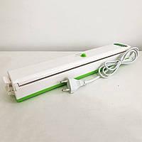 Вакууматор Freshpack Pro вакуумний пакувальник їжі, побутової. Колір: зелений, фото 1