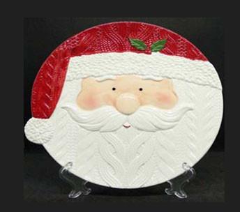 Посуда новогодняя тематика тарелка Санта 255мм 7857-5
