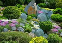 Элементы ландшафтного дизайна из натурального камня