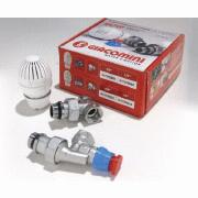 """Термостатический комплект для отопительного прибора, Осевой (с наружн. Резьбой) GIACOMINI(R470AX023) 1/2""""x16"""