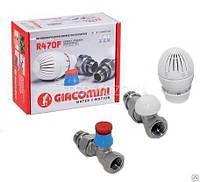 """Термостатический комплект для отопительного прибора, Прямой (с внутр. Резьбой) GIACOMINI (R470FX013) 1/2"""""""