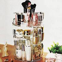 Круглый белый органайзер для косметики и украшений Style Classic Fashion, фото 1