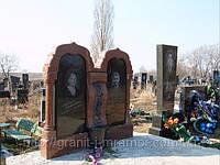 Мемориал двойной (черный красный)