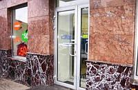 Облицовка мрамором фасада, фото 1