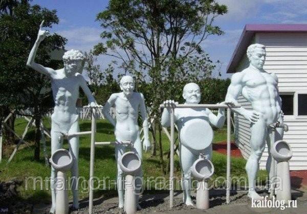 Эротические скульптуры из гранита и мрамора