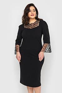 Облягає чорне плаття з сіткою великих розмірів (Ліза lzn)