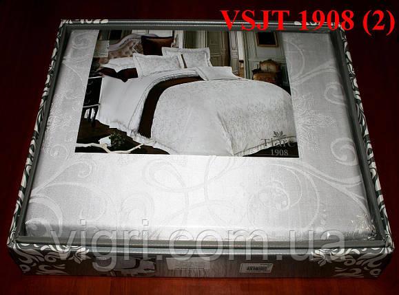 Постельное белье семейное, сатин жаккард Tiare Вилюта. VSJT 19008, фото 2