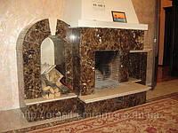 Декоративные камины из камня