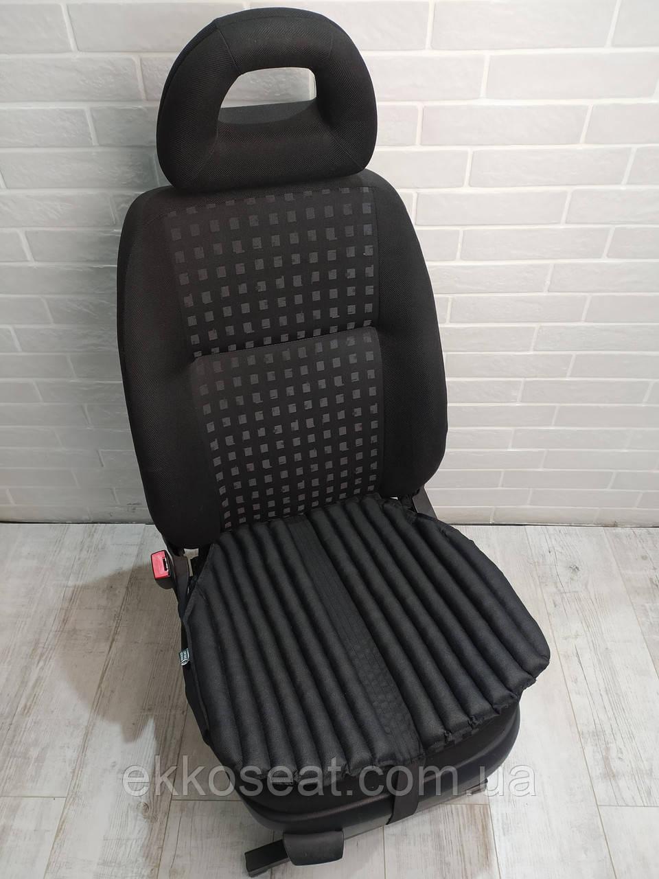 Подушка на авто сиденье EKKOSEAT. Черная, серая, бежевая. Универсальная.