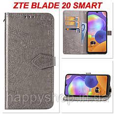 Чохол-книжка з візитницею для ZTE Blade 20 Smart (Сірий)