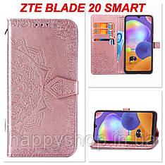 Чохол-книжка з візитницею для ZTE Blade 20 Smart (Рожевий)