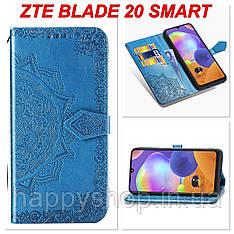 Чохол-книжка з візитницею для ZTE Blade 20 Smart (Синій)
