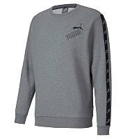 Толстовка Puma Amplified Crew Hoodie 583513 03 (серый, мужской, спортивная, хлопок, логотип пума)