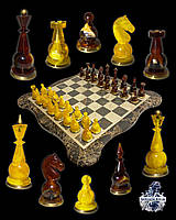 Антикварные янтарные шахматы , антикварные бронзовые шахматы , антикварная мебель антиквариат Украина Киев