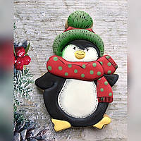 Новорічні смачні подарунки імбирне печиво Пінгвін