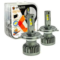 Лампа светодиодная для фар CYCLONE LED H4 5500K 10000LM TYPE 34 2 шт комплект