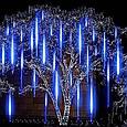 Світлодіодна гірлянда Тане бурулька новорічна 8 по 50 см Мультиколір, фото 6