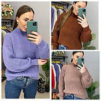Женский вязанный свитер Oversize, фото 1