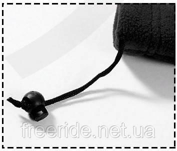 Зимний бафф, теплый шарф-труба (серый камуфляж), фото 2