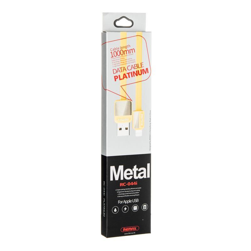 USB кабель Remax Platinum RC-044i iPhone 5/6 Gold 1m