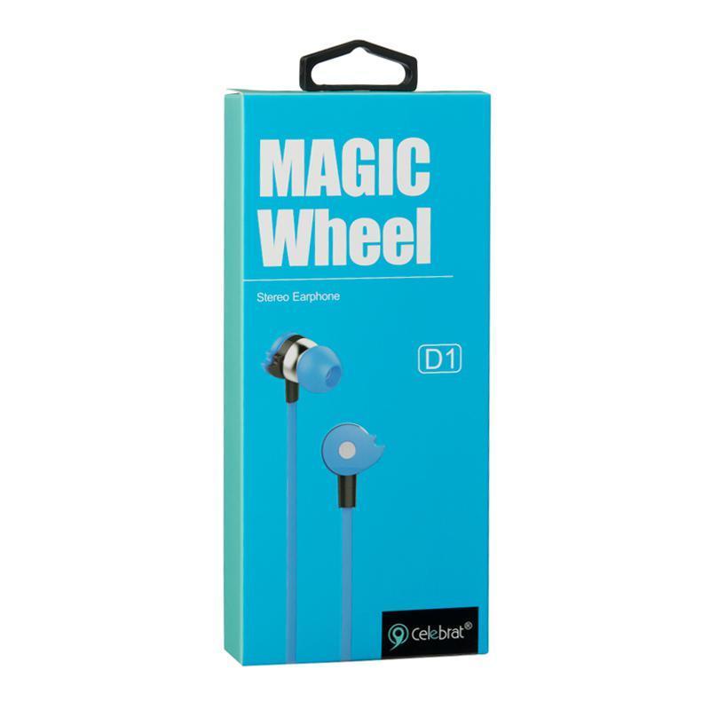 Наушники Celebrat D1 Blue с микрофоном и кнопкой ответа