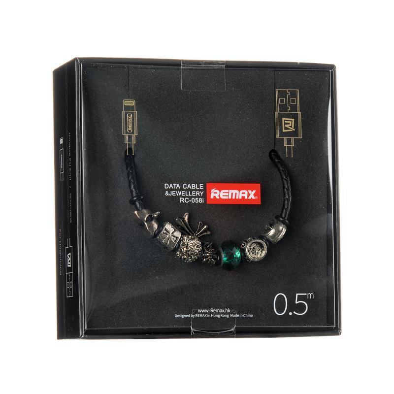 USB кабель Remax Jewellery RC-058i iPhone 6 Black 0.5m