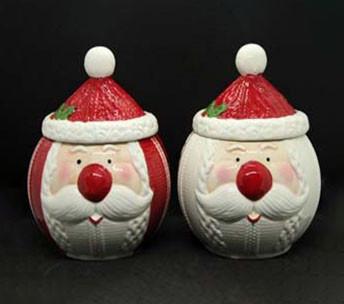Новогодняя банка для печенья Санта 1,5л 7857-8