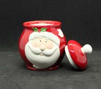Новогодняя банка для сладостей Дед Мороз 950мл 7938-10